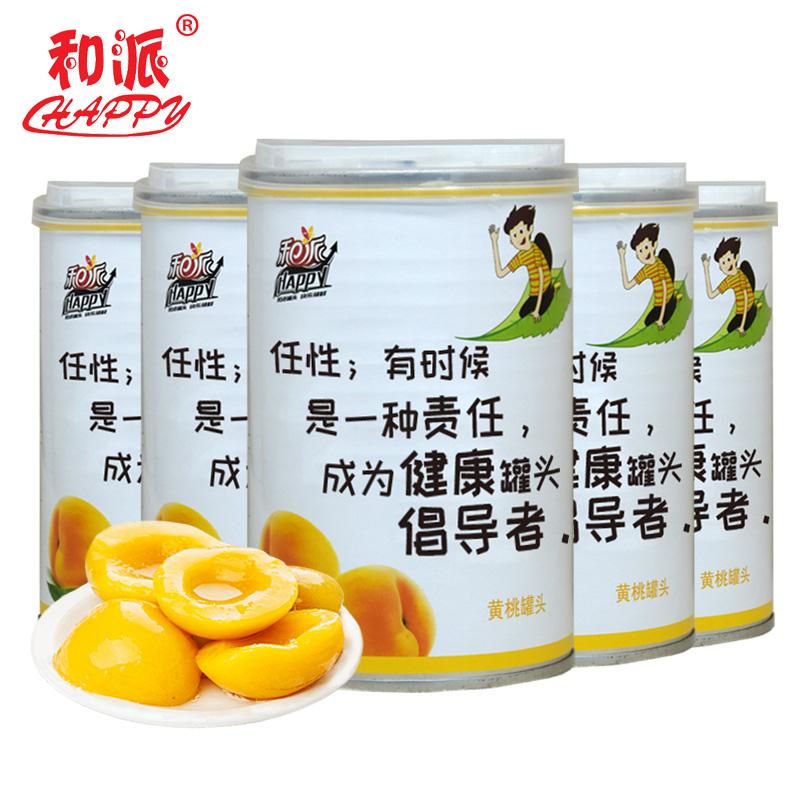 【和派】黄桃罐头425g*5罐新鲜糖水水果罐头包邮