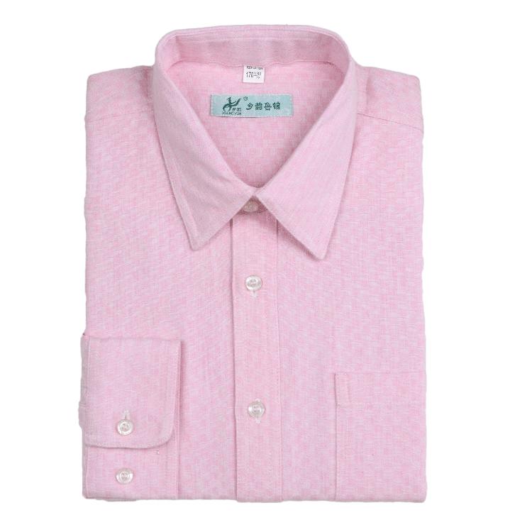 乡韵鲁锦  男士宽松版 机纺长袖衬衣