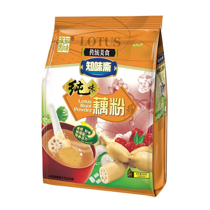 知味斋纯味藕粉660g  1袋包邮 偏远地区除外