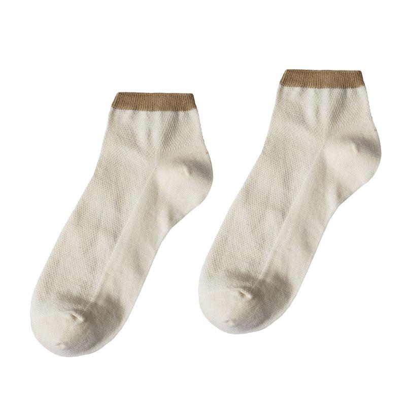 【小亘】天然彩棉男士女士船袜(4双)无染色本白吸汗防臭健康全棉纯棉夏季运动