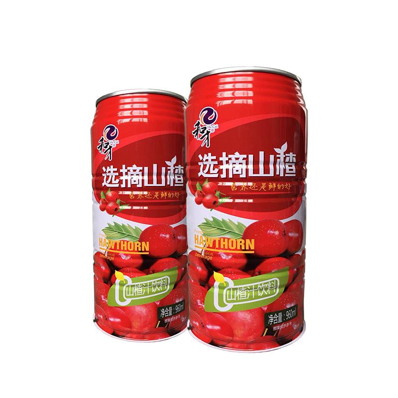 和才鲜榨山楂汁960ml×3瓶(30%果汁 易拉罐装)包邮(偏远地区除外)