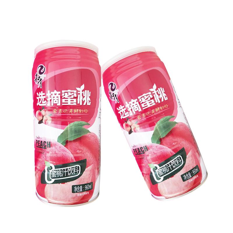 和才鲜榨桃枝960ml×3瓶(30%果汁 易拉罐装)包邮(偏远地区除外)