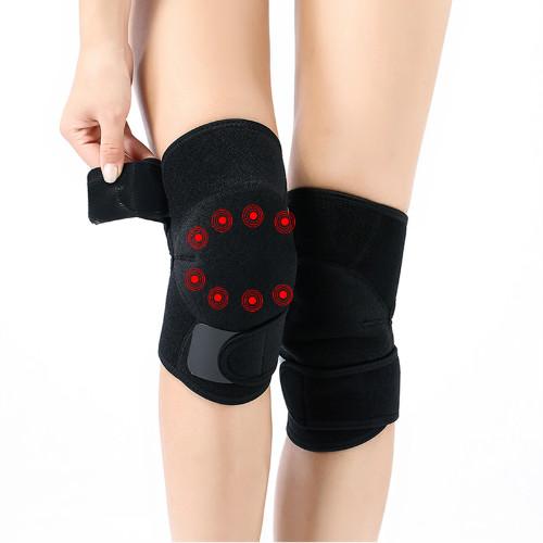 自发热护膝新款托玛琳热灸老人保健保暖骑行护膝盖