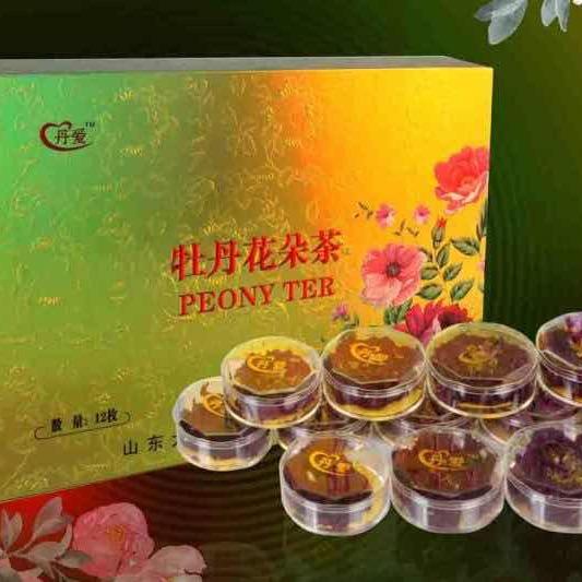 丹爱牡丹花朵茶12枚
