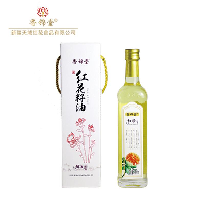 【香锦堂】纯红花籽油900ml礼盒装