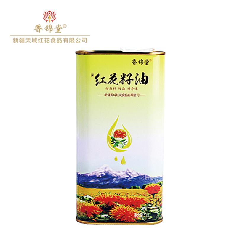 【香锦堂】纯红花籽油1L马蹄铁