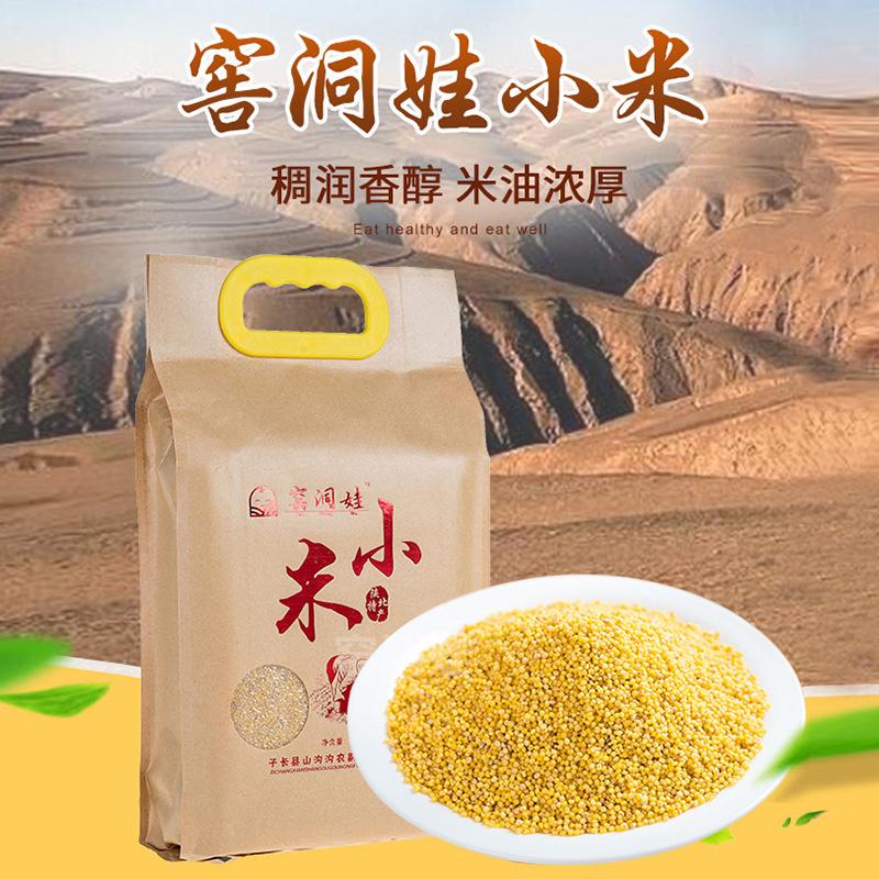 【窑洞娃】陕北小米 2.5kg 米脂小米 小黄米 孕妇宝宝粥米 农家肥 不打农药