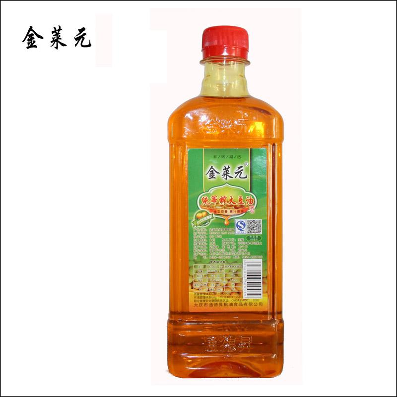 金莱元纯笨榨大豆油500ml/瓶