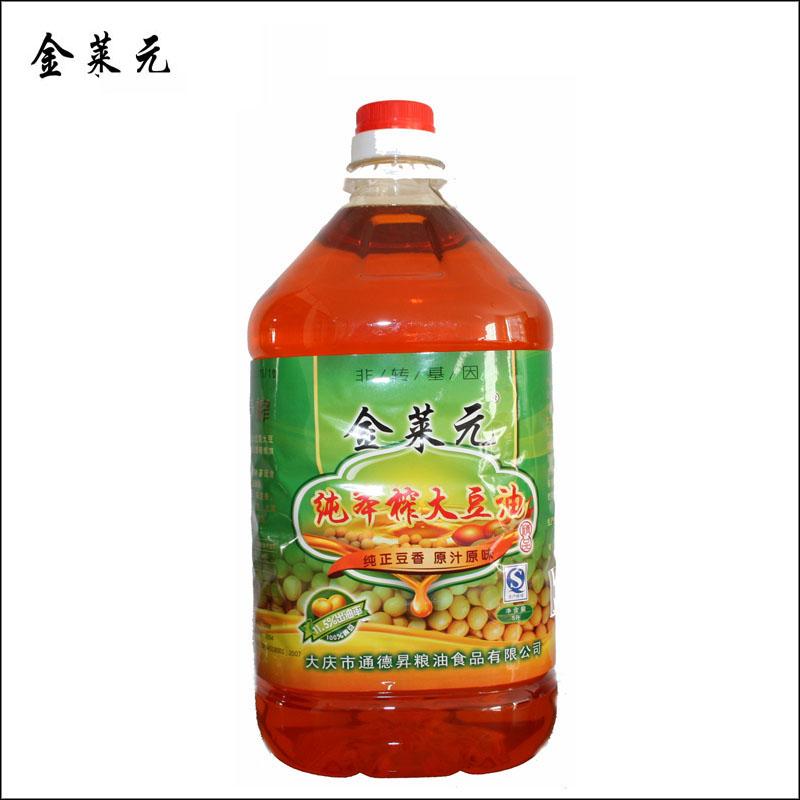 金莱元纯笨榨大豆油5L/桶