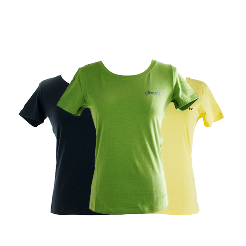【达瑰孜】夏季新款女款T恤logo款,95%棉不起球,不掉色DGZ1701女款