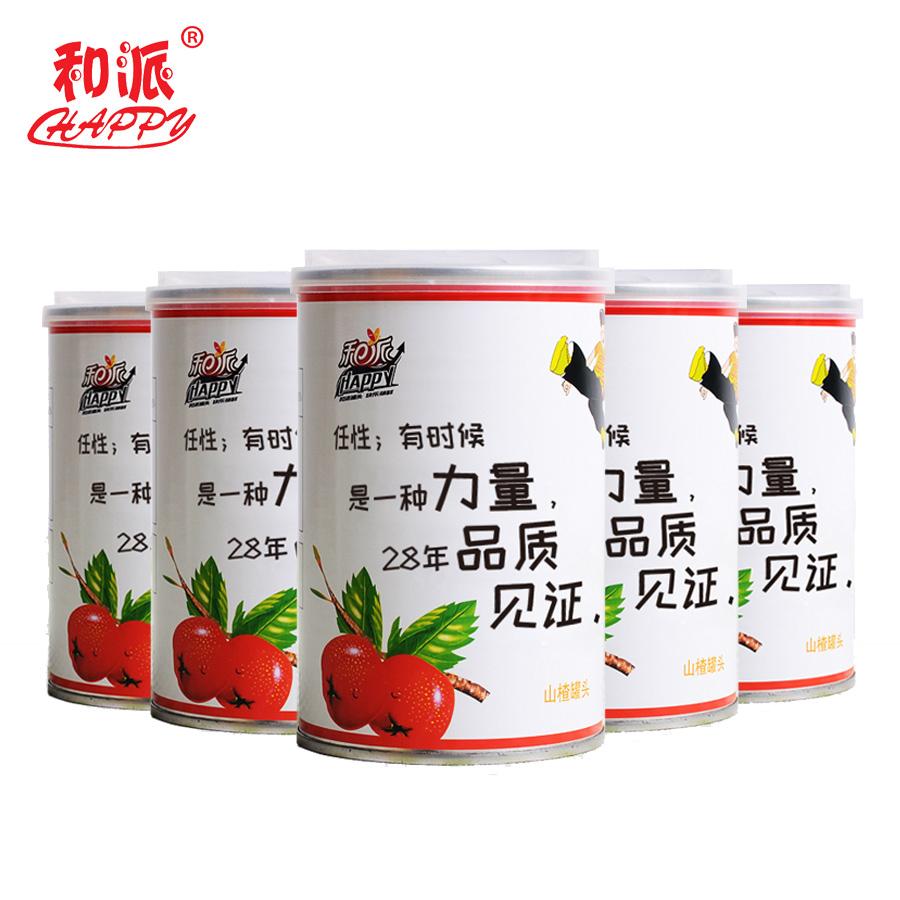 【和派】山楂罐头425g*5罐新鲜糖水水果罐头包邮