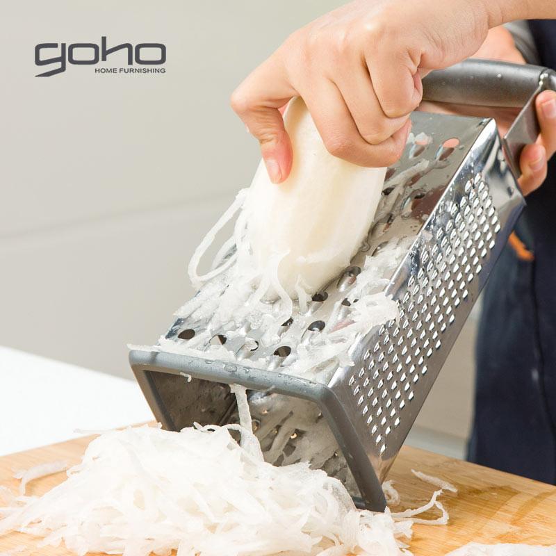多功能切菜器不锈钢四面立体刨丝器萝卜土豆擦丝器切片器