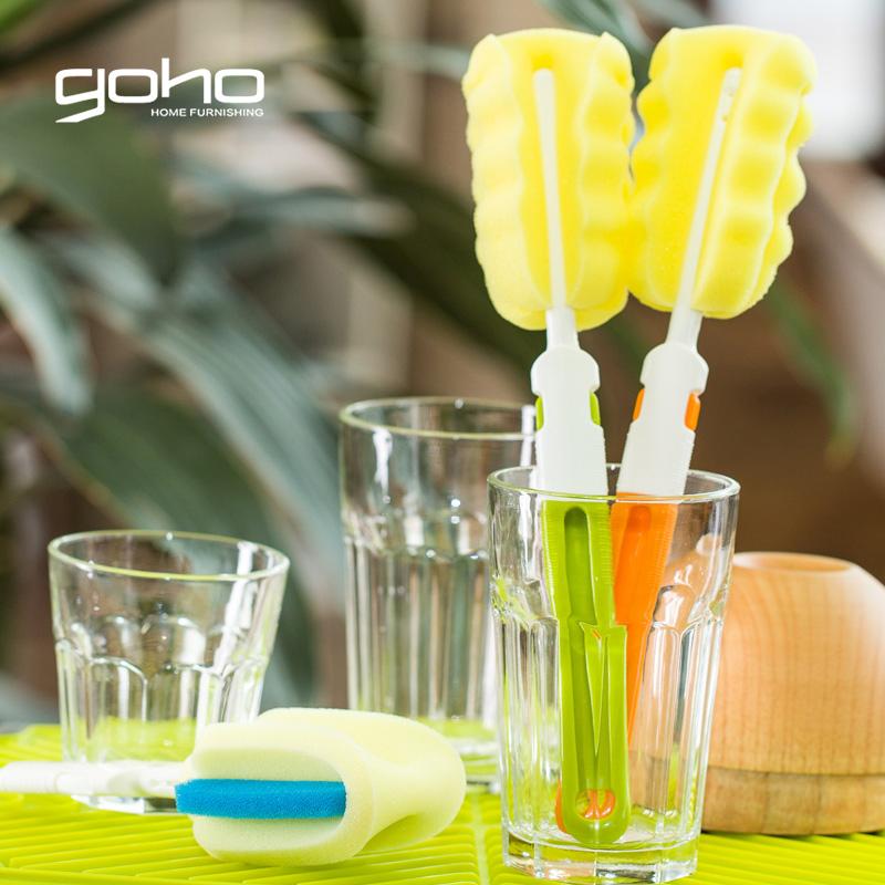 长柄杯刷 海绵清洗杯刷洗刷杯子保温杯刷瓶刷奶瓶刷