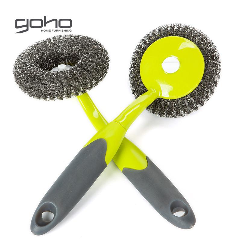 长柄锅刷 不粘油钢丝刷洗碗洗锅除油清洁刷钢丝球