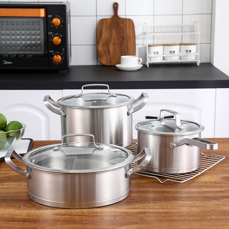 伯朗尼厨房三件套汤锅+奶锅+煎锅