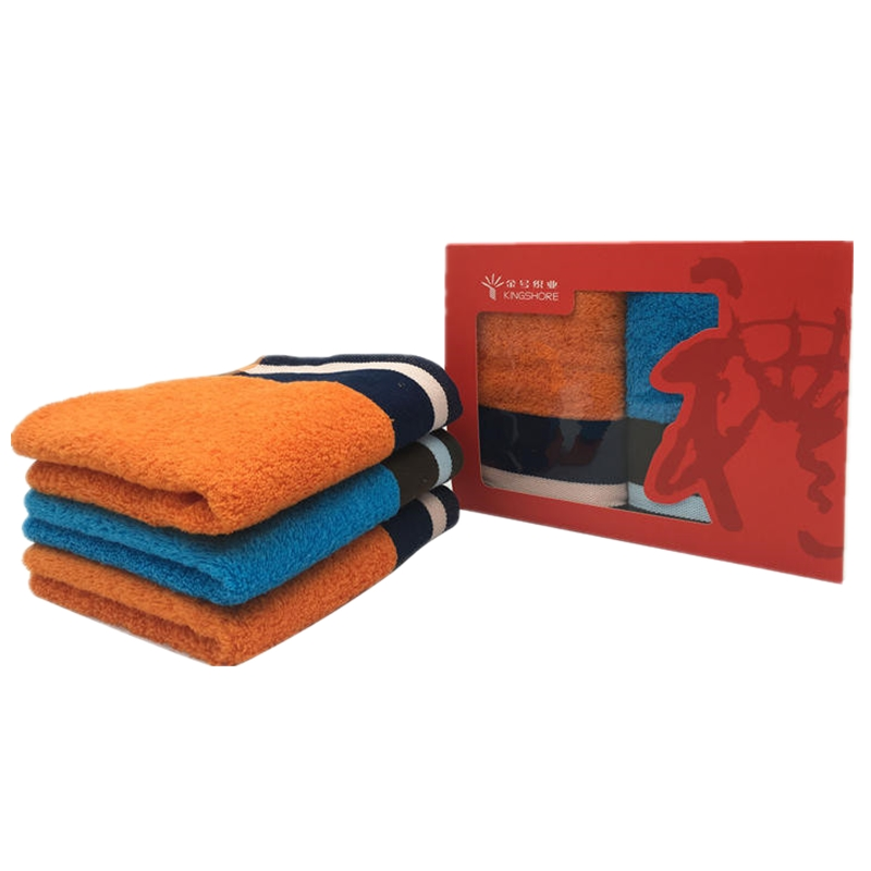 【金号】橙馨蓝魅系列毛巾2条彩盒装(2件包邮)