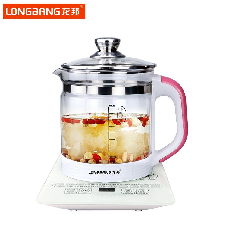 龙邦多功能养生壶 全自动高硼硅玻璃壶LB-881升级版