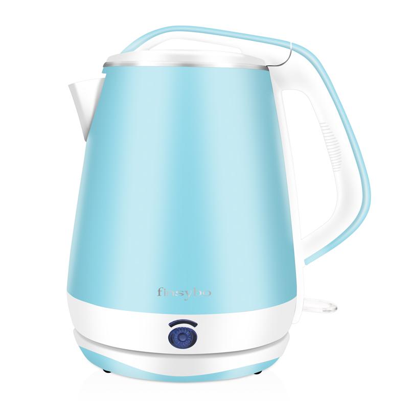 艾伯特F-EKS18B电热水壶.304不锈钢自动断电双层防烫电水壶.热水壶.开水壶