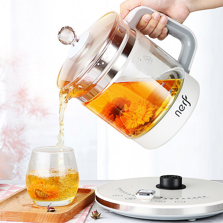 高端养生壶全自动高硼硅玻璃多功能电热烧水壶家用煮茶器304加热盘拉尔弗养生壶 HT-YS953