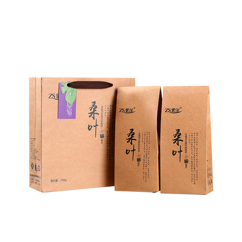 【紫深】低香桑叶茶(125g*2袋)礼盒装霜桑叶茶
