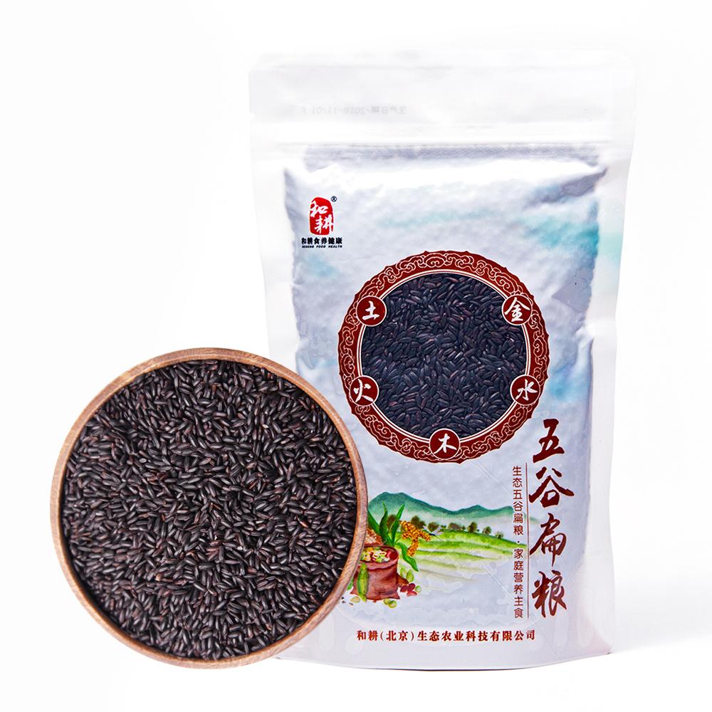 和耕黑米家庭装-米豆同熟 内蒙古赤峰杂粮 自然成熟 无添加 黑香米 450g*2