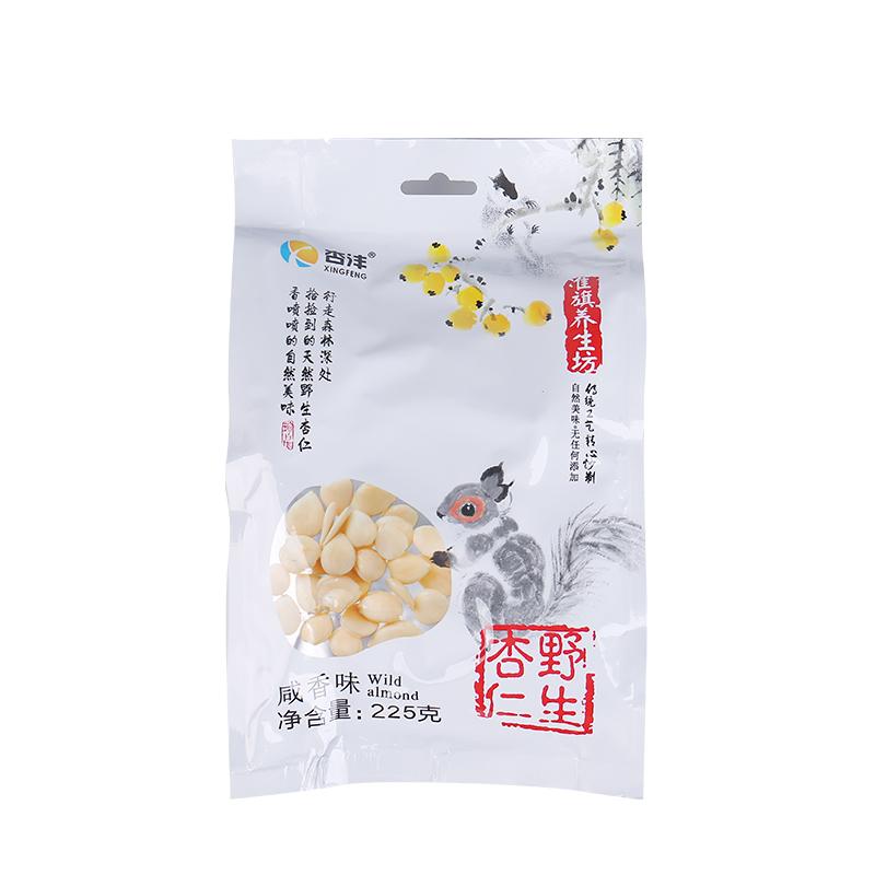 【杏沣养生坊】炒杏仁 内蒙古特产 野生坚果炒货 (225g*3袋)