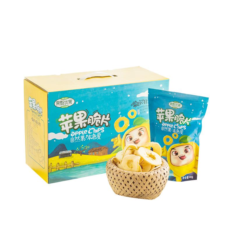 苹果脆片非油炸苹果干水果干休闲食品36g*4袋脆片