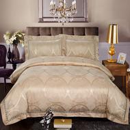 增寿沁香四件套 电气石寝具(香槟金色) (包括:枕套一对、床单一条、被罩一条)