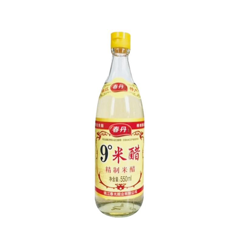【春丹】9°米醋550ml/瓶(4瓶包邮)