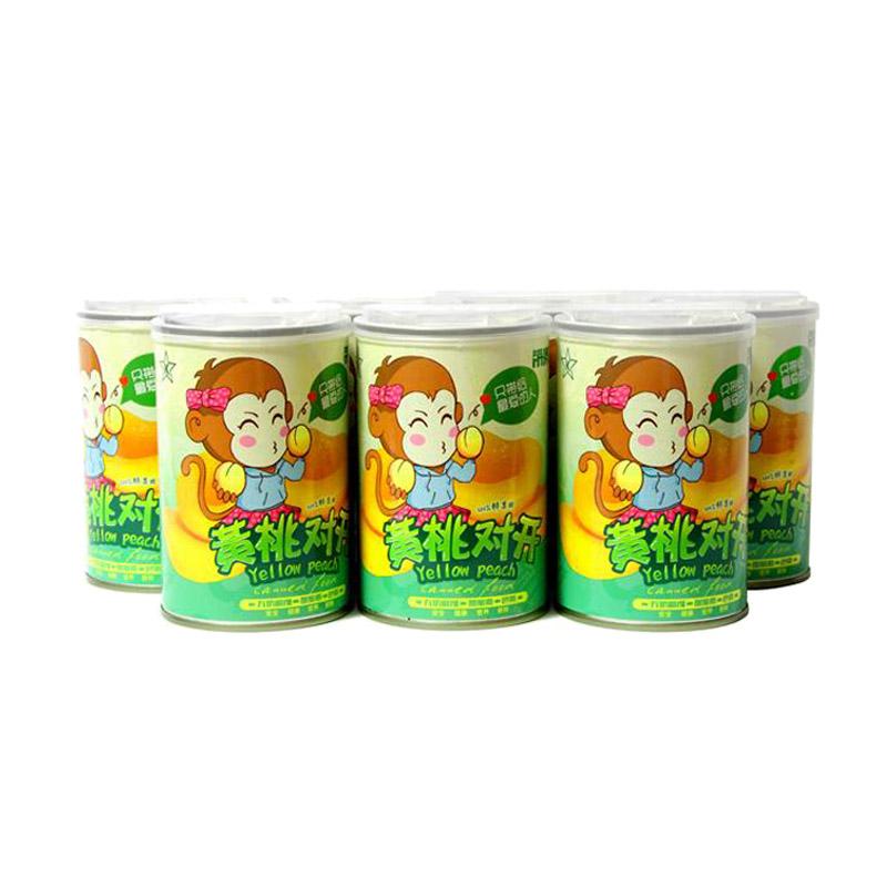 带澳飞 黄桃罐头 水果罐头 黄桃对开罐头
