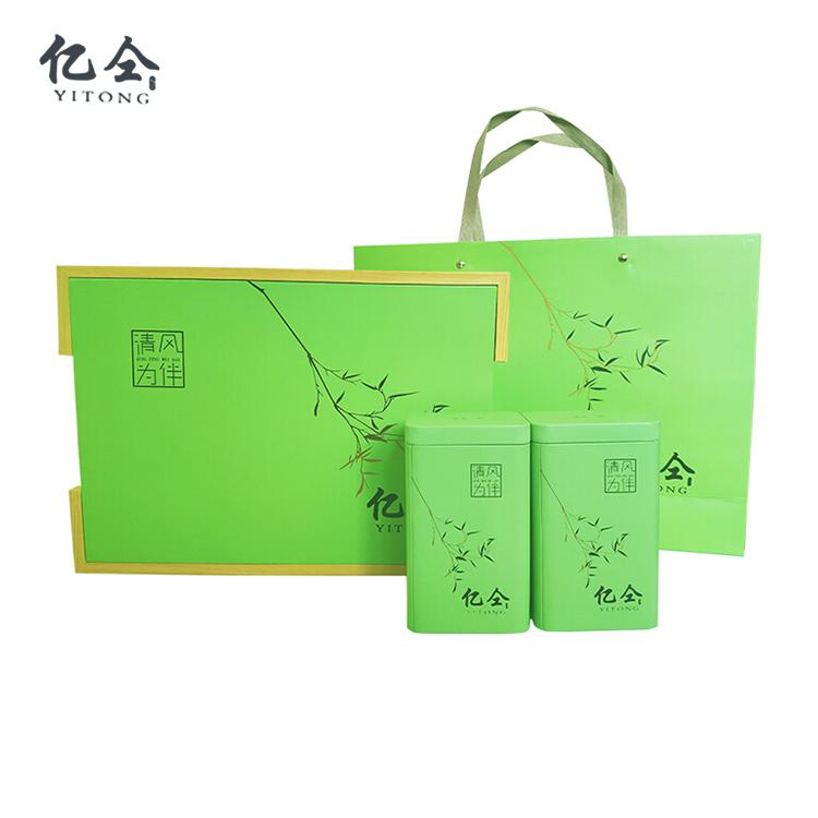 绿茶礼盒罐装.送礼新选择.太湖绿茶生态无农残留绿茶.两罐装礼盒茶叶250克