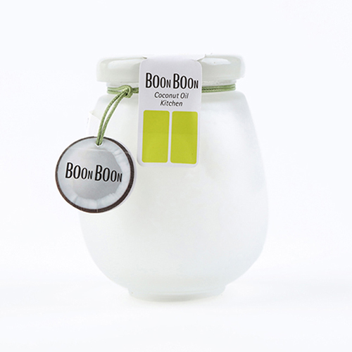 【BOONBOON椰子油】   冷榨椰子油230ml  采用椰肉黄金层,磨砂设计瓶,营养丰富,易水解