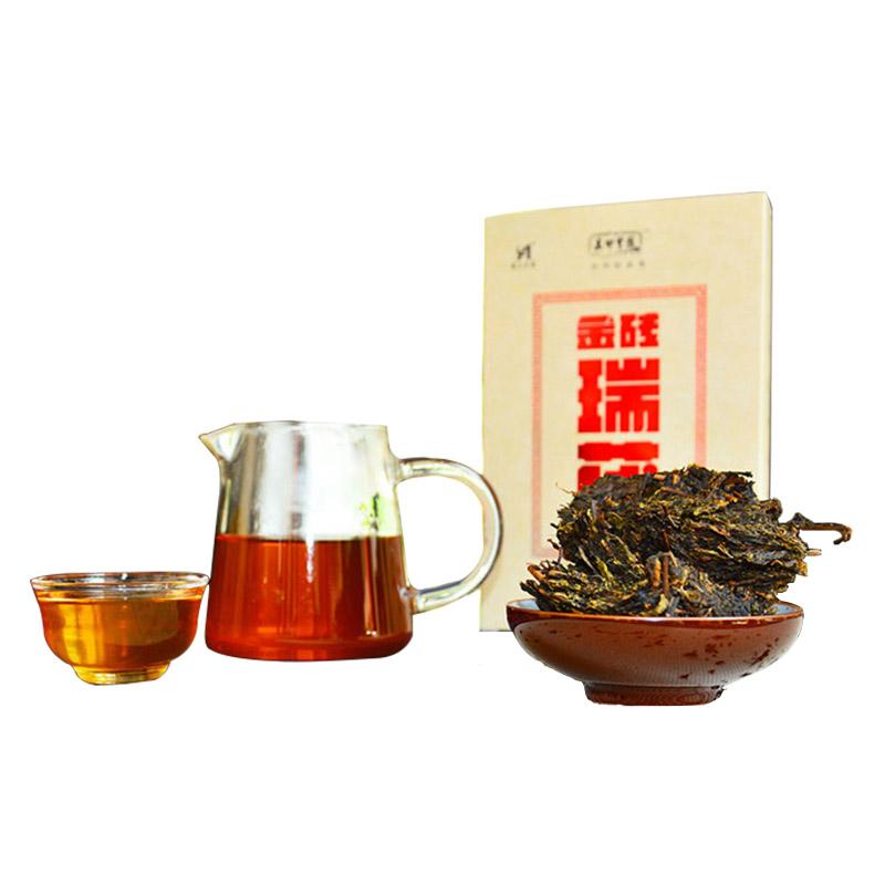 黑茶 安化 高甲皇园 金砖瑞茯 500g 天尖手筑茯砖 茶叶