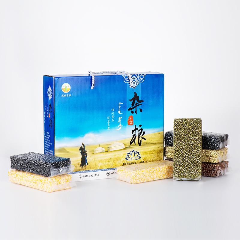 【漠旺】杂粮礼盒 八宝粥原料 营养粗粮5kg(绿豆*2、豇豆*2、黑豆*2、荞麦米*2、玉米碴*2)