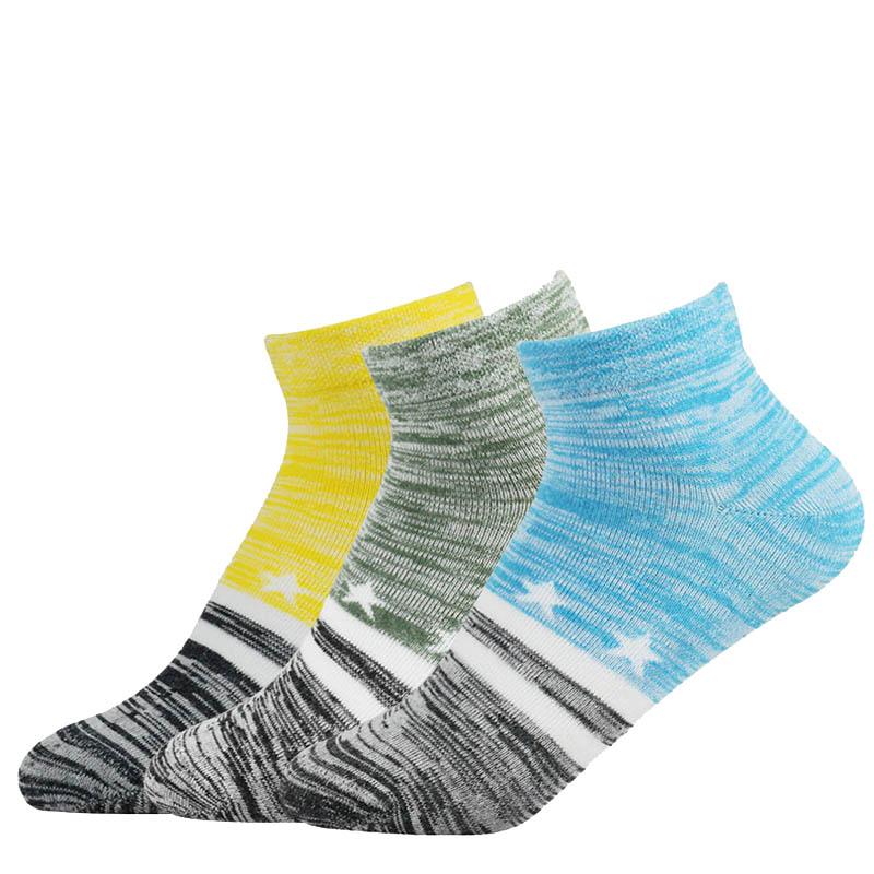 袜子 乡韵鲁锦 纳米铜儿童低筒袜 X1602 纯棉 防臭 抗菌 免洗袜 黄.蓝.绿6双混装