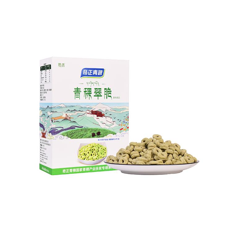 青稞翠脆休闲膨化食品