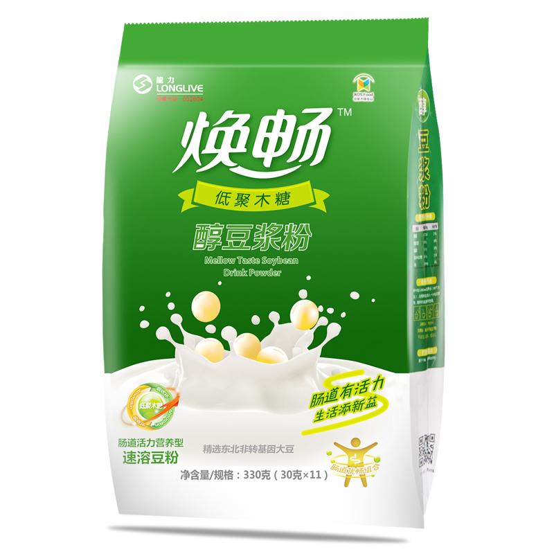 焕畅豆浆粉330g 无添加蔗糖小包装早餐速溶冲饮袋装豆浆粉 3袋包邮