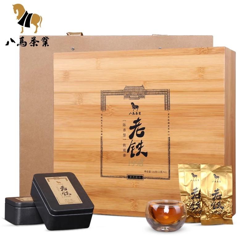 【八马】安溪铁观音 陈香铁观音 老铁1998 126g/盒(21g*6小盒)