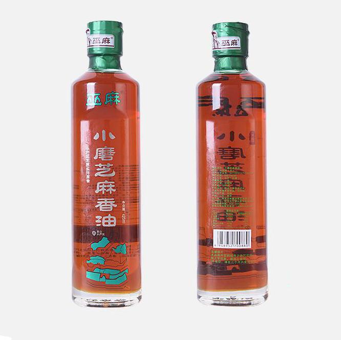 【李磨油】巫山白芝麻香油420ml/瓶(2瓶包邮)