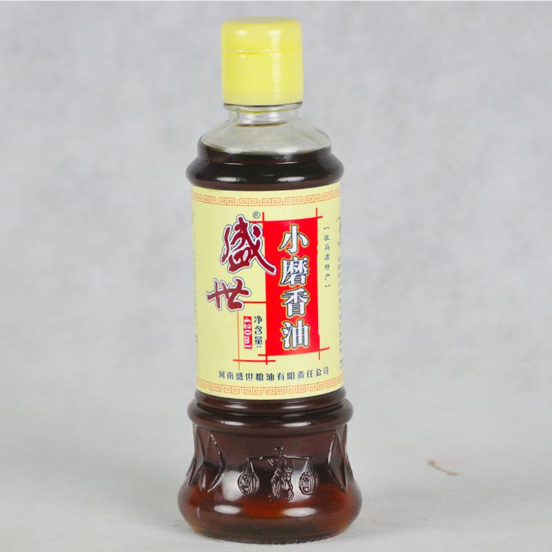 盛世石磨小磨香油(5件包邮) 麻油 火锅 凉拌 调味油 驻马店特产