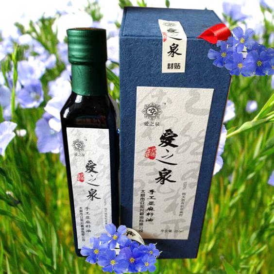 非物质文化遗产【爱之泉】古法压榨亚麻籽油250ML